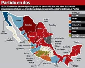 territory controlled by Los Zetas