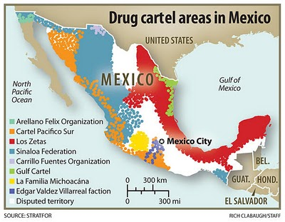 Mexican Drug Cartel Map