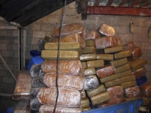 Narco tunnel of drugs