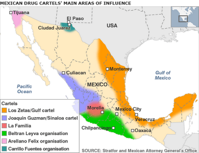 Map of the Cartels haunt!