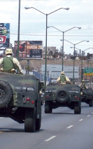 Soldiers on the guard in Juarez!