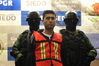 "PGR and the Department of Defense presented Erick Valencia Salazar, alias ""85"","