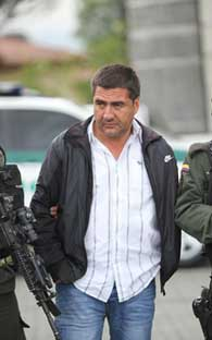 An important bloc leader of the FARC iCaptured in Bogota