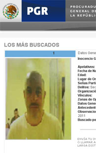 Arrested one of the most wanted by the PGR in Tenango-Ixtapan