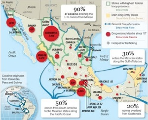 Trafficking drugs map