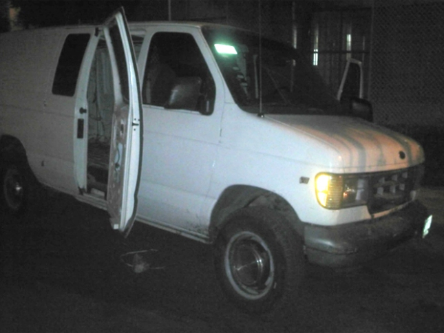 Van used in serial rape