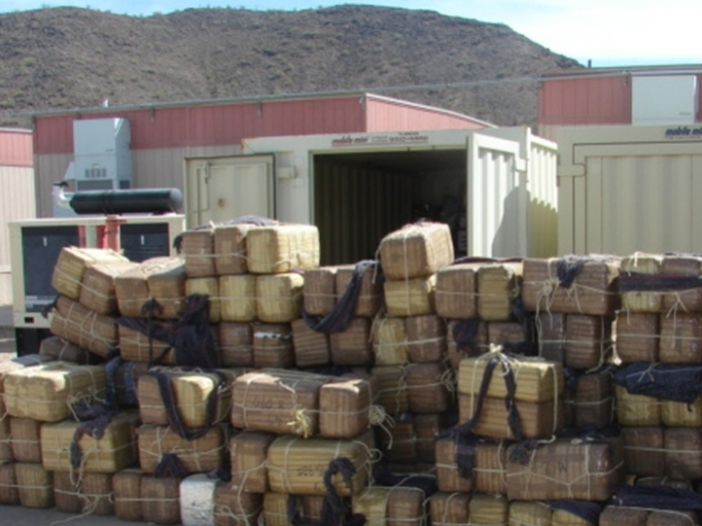 half ton of marijuana in the state of Hidalgo located in trailer truck